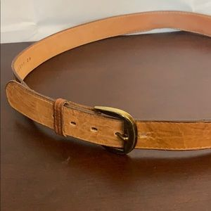 Tony Lama Brown Leather Western Belt Size 42